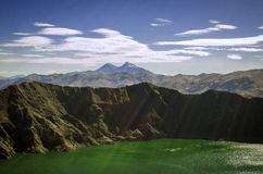 Quilotoa lake Royalty Free Stock Images