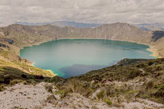 Quilotoa Lake, Volcanic Crater, Ecuador Stock Image