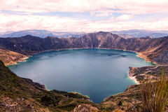 Quilotoa Lake, Water Filled Caldera Royalty Free Stock Photo