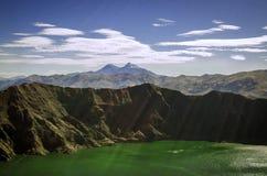 Quilotoa See lizenzfreie stockbilder