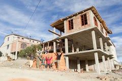 Quilotoa Toeristische Ontwikkeling Stock Foto's