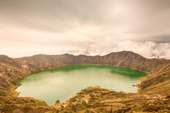 Quilotoa Volcano Lagoon Stock Photo