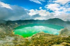 Quilotoa Volcano Lagoon Hdr Stock Photos