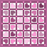 quilt сердца Стоковые Изображения RF
