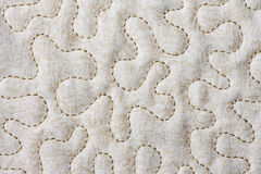 Quilt. Closeup of section of quilt showing stitching Royalty Free Stock Photography