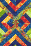 Quilt #2. Quilt block design #2 with many colors Royalty Free Stock Photo