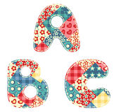 Quilt alphabet. Stock Images