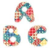 Quilt alphabet. Stock Images