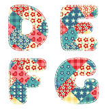 Quilt alphabet. Royalty Free Stock Photography