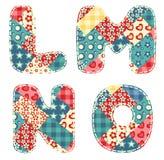 Quilt alphabet. Stock Photos