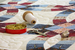 Free Quilt And Quilting Tools Royalty Free Stock Photos - 3350078