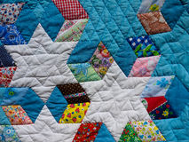 Quilt Background. A colorful traditional quilt for a background royalty free stock photography