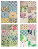 Quilt background set Stock Photo