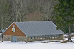 Quilt Barn with The Child Before Us Pattern Royalty Free Stock Photography