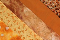 Quilt block-orange. Close-up of fabric strips of a quilt block Royalty Free Stock Images