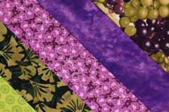 Quilt block-purple. Multi strips of fabric in a quilt block Royalty Free Stock Photos