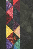 Quilt Block with side copy space. Multicolored Quilt Block with side copy space Stock Image