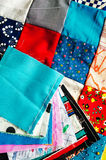 Quilt and Blocks Royalty Free Stock Images
