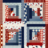 Quilt in country style. Royalty Free Stock Photography
