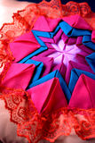 Quilt craft, pillow Royalty Free Stock Photo