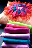 Quilt craft, pillow Royalty Free Stock Image