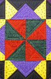 Quilt detail background Stock Photography