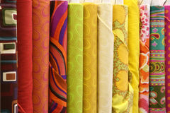Quilt Fabric Stock Photography