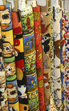 Quilt Fabric. Bolts of animal quilt fabric dogs fire hydrants bones horses bold designs stock image