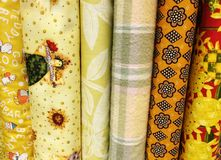 Quilt Fabric Background Royalty Free Stock Photos