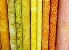 Quilt Fabric Background Stock Photos