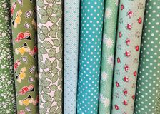 Quilt Fabric Background Stock Images