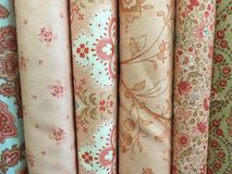 Quilt Fabric Background Stock Image