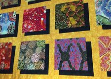 Quilt Fabric Background Royalty Free Stock Photography