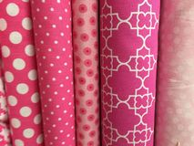 Quilt Fabric Background Stock Photo