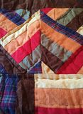 Quilt ~ Hand sewn stripe design Royalty Free Stock Photography