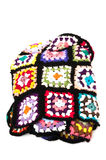 Quilt made cross stitch Stock Images