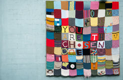 Quilt with a message royalty free stock images