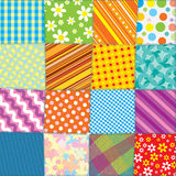 Quilt Patchwork Texture. Seamless Vector Pattern Stock Images