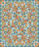 Quilt Patchwork Texture. Colorful Vector Pattern blanket Stock Photos