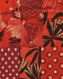 Quilt pattern. My handmade  red quilt pattern Royalty Free Stock Image