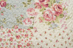 Quilt Pattern. Flower Quilt Pattern Horizontal Photograph Royalty Free Stock Photo