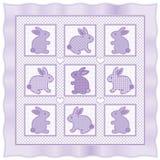 Quilt pequeno dos coelhos Foto de Stock Royalty Free
