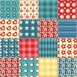 Quilt seamless pattern 2 Royalty Free Stock Photo