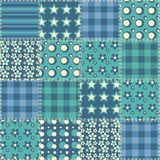 Quilt seamless pattern 4 Royalty Free Stock Photography