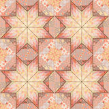 Quilt seamless pattern background star design Stock Photos