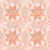 Quilt seamless pattern background star shape Stock Photo