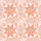 Quilt seamless pattern background star shape stock illustration