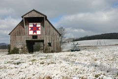 Quilt Square on Barn Stock Image