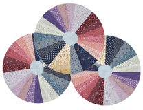 Quilt wheels Stock Photography