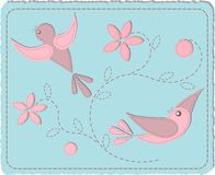 Quilted birds Stock Photo